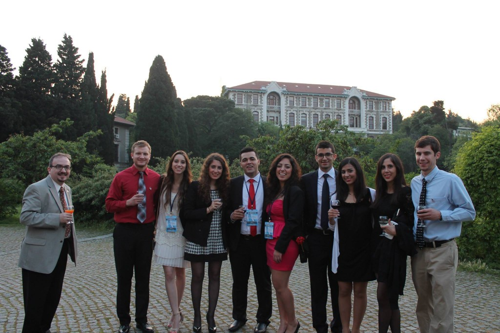 Participants from US and Lebanon before the 20th Year Gala of ICAMES in the magnificent South Campus of Boğaziçi University.